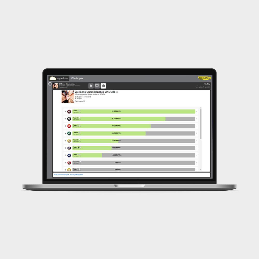 Профессиональное приложение CHALLENGE Technogym